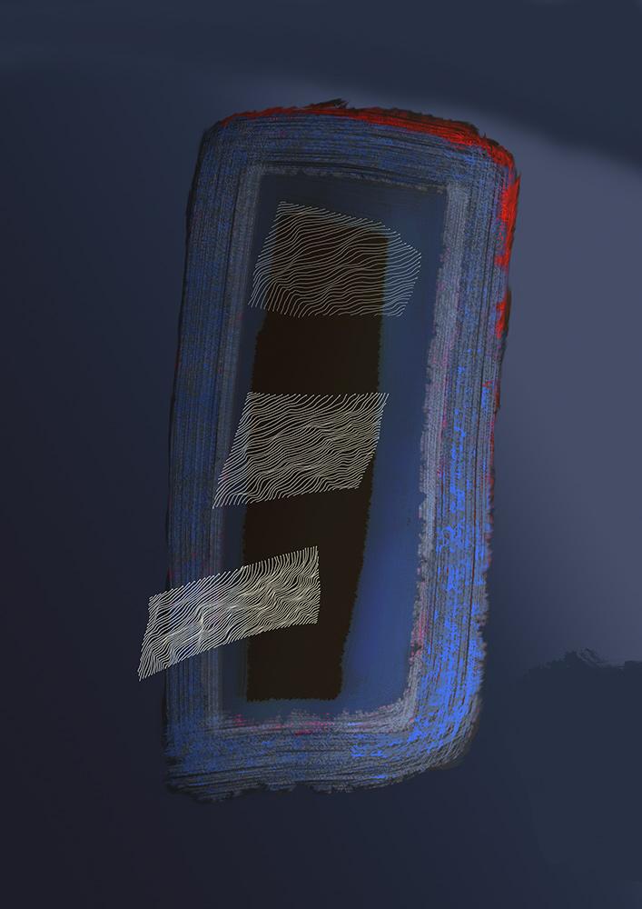 blau drei formen