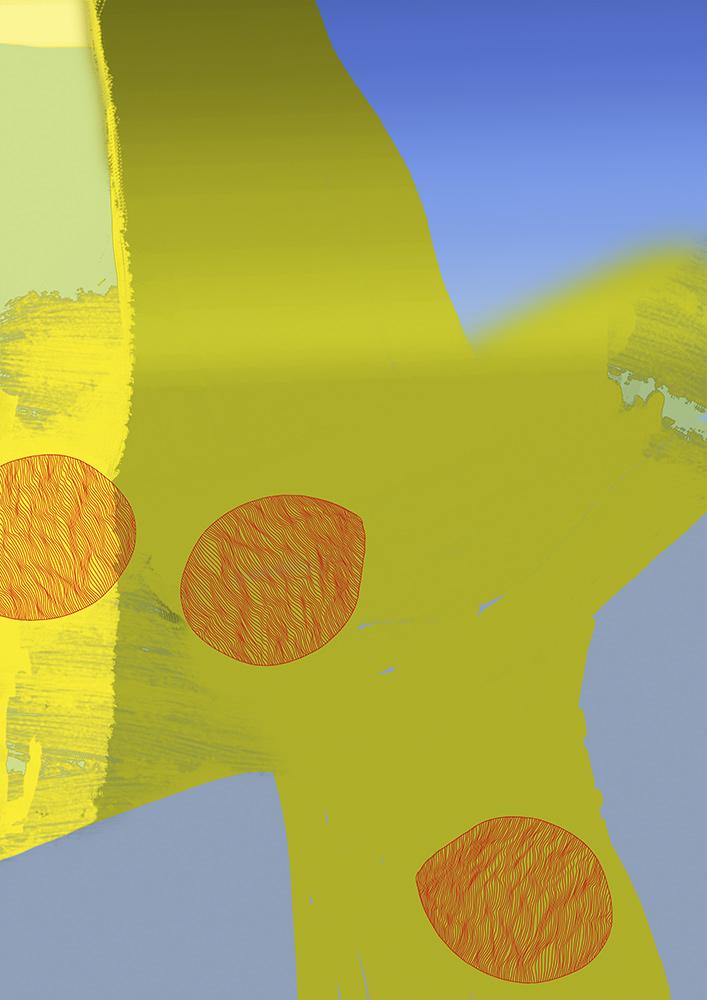 gelb und linien