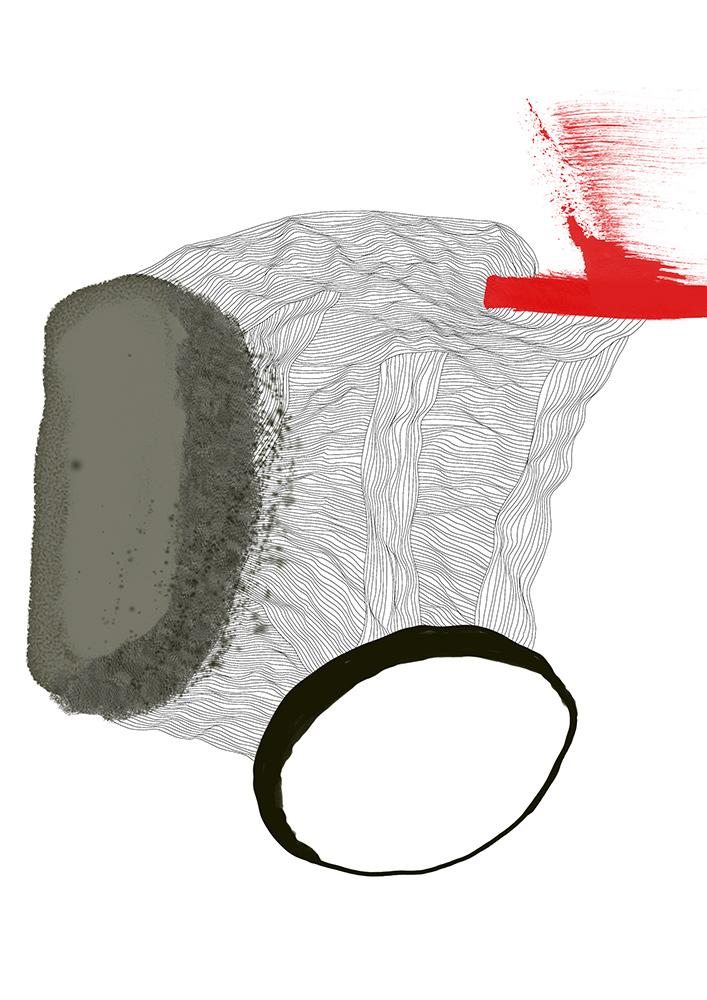 grau rot schwarz linien