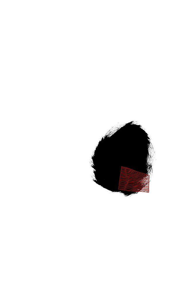 schwarz mit linienrechteck