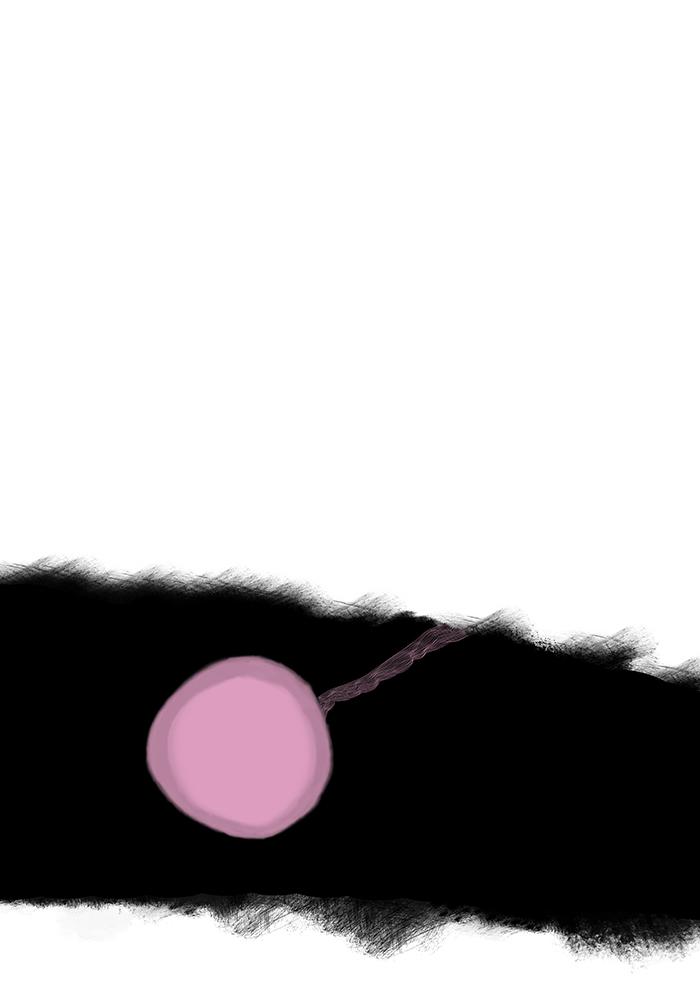 schwarz mit rosa