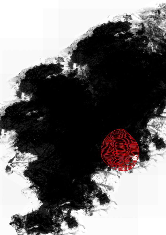 schwarz mit roter linienform