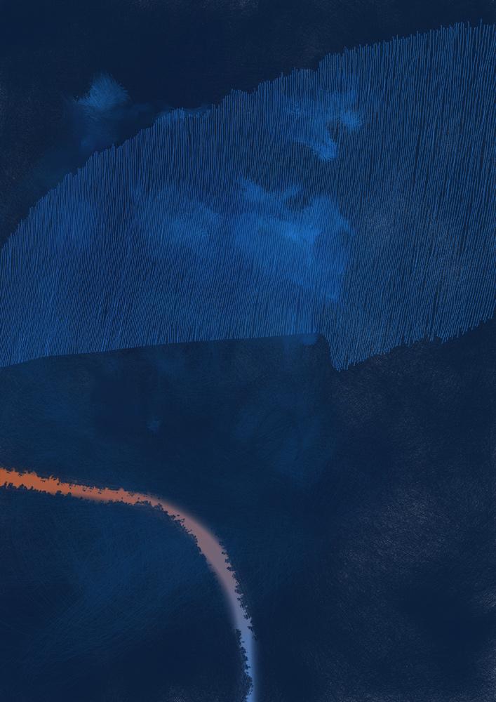 blau orange due